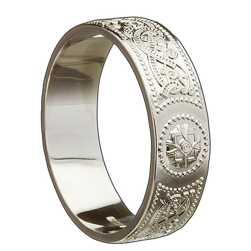 Irish wedding ring celtic warrior mens wedding band at for Mens irish wedding rings