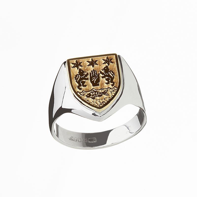 coat of arms rings
