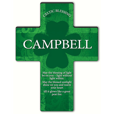 Personalized Irish Blessing Shamrock Cross - Old Celtic Blessing