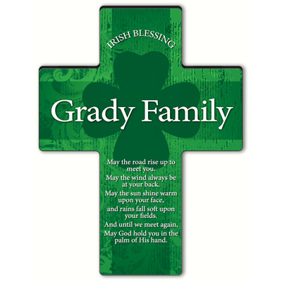 Personalized Irish Blessing Shamrock Cross - Old Irish Blessing 2