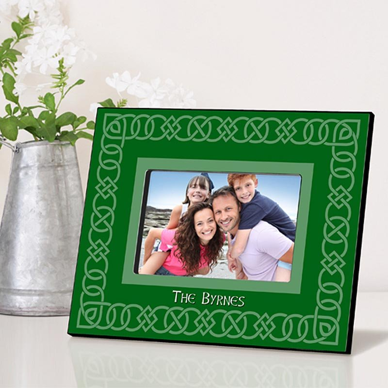 Personalized Irish Picture Frames - Celtic Green