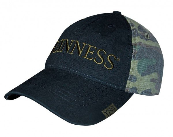 Guinness Washed Camo Print Baseball Cap