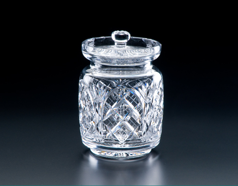 Irish Crystal - Heritage Irish Crystal 6 inch Cathedral Cut Biscuit Barrel Jar