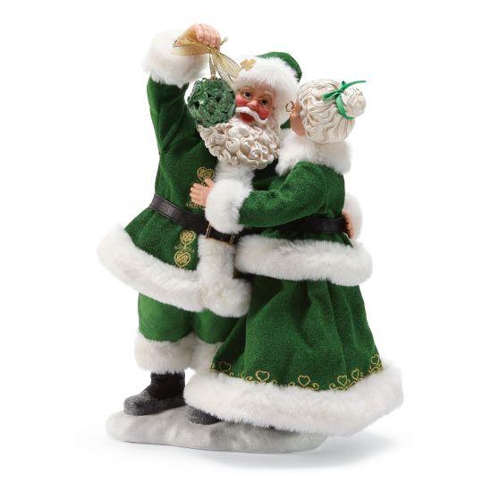 Irish Christmas.Irish Christmas 11 5 Love Loyalty Friendship Irish Mr Mrs Claus Figurines