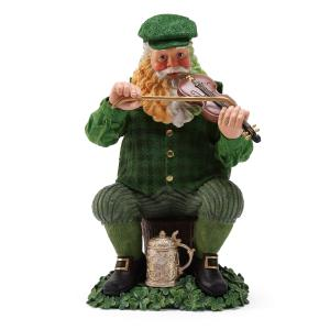 "Irish Christmas - 9"" Fiddle Dee Santa Figurine"