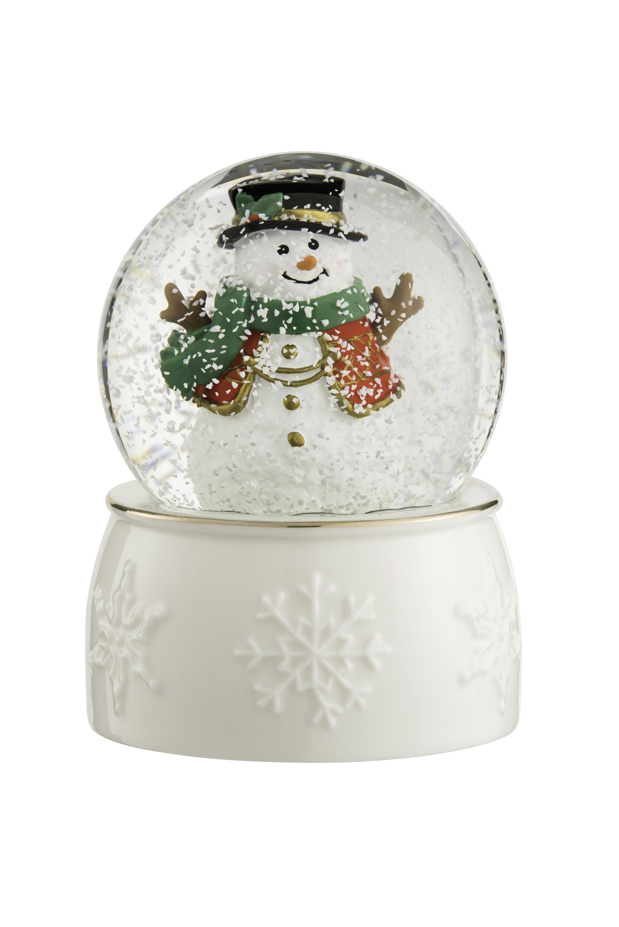 Irish Christmas - Belleek Snowman Snowglobe at IrishShop.com | HMBL10287