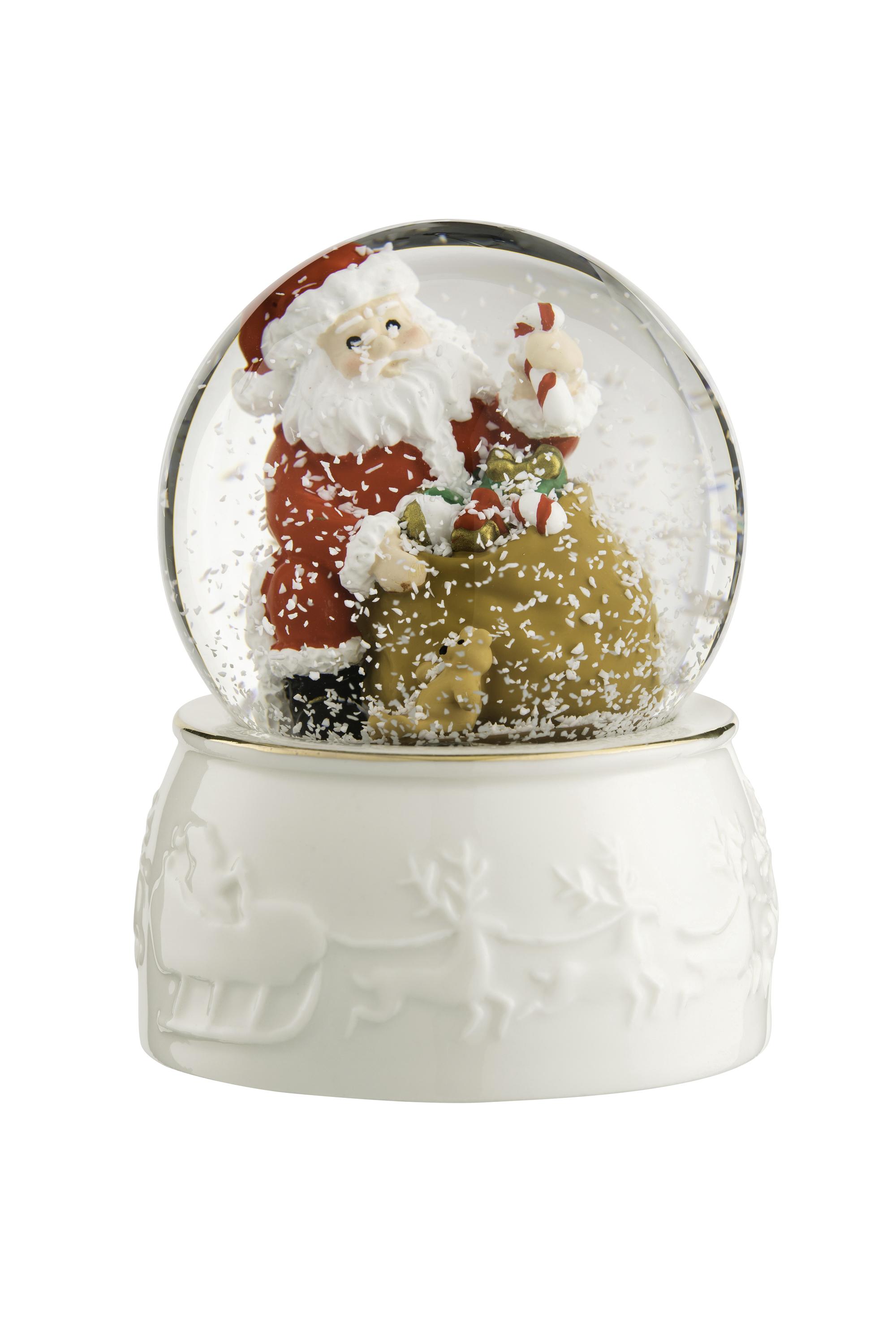 Irish Christmas - Belleek Santa Snowglobe at IrishShop.com | HMBL10288