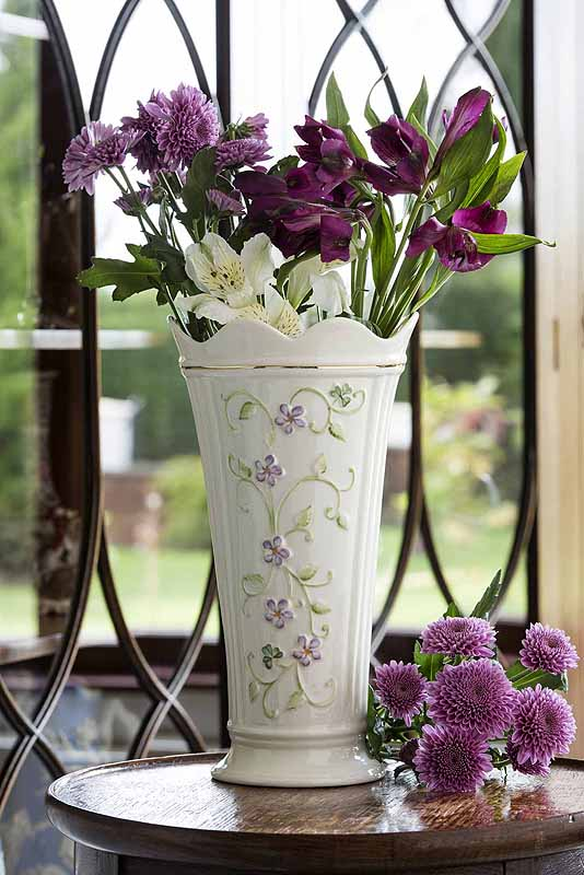 "Belleek Irish Flax 9.5"" Vase"