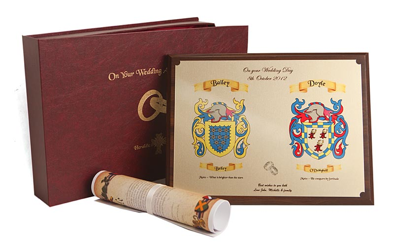 Coat of Arms Heraldic Wedding Gift Set