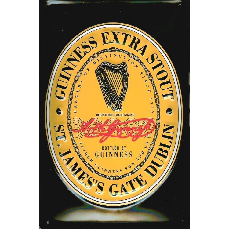 Guinness English Label Metal Sign