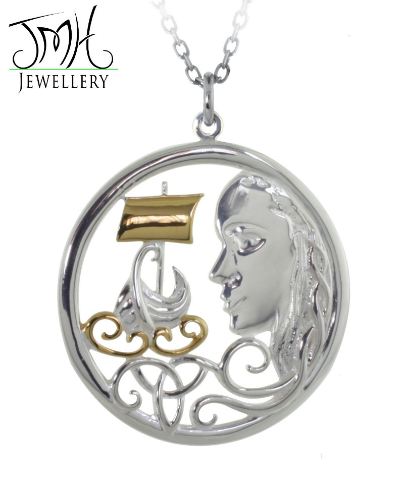 Irish Necklace - Sterling Silver 'The Pirate Queen' Pendant