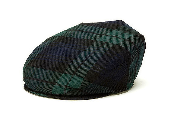 Vintage Irish Donegal Cap - Blackwatch Plaid