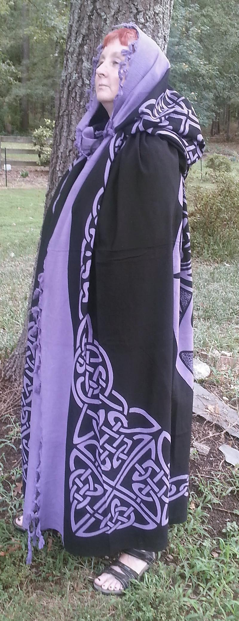 Celtic Knot Cotton Cape Purple On Black At Irishshop Com