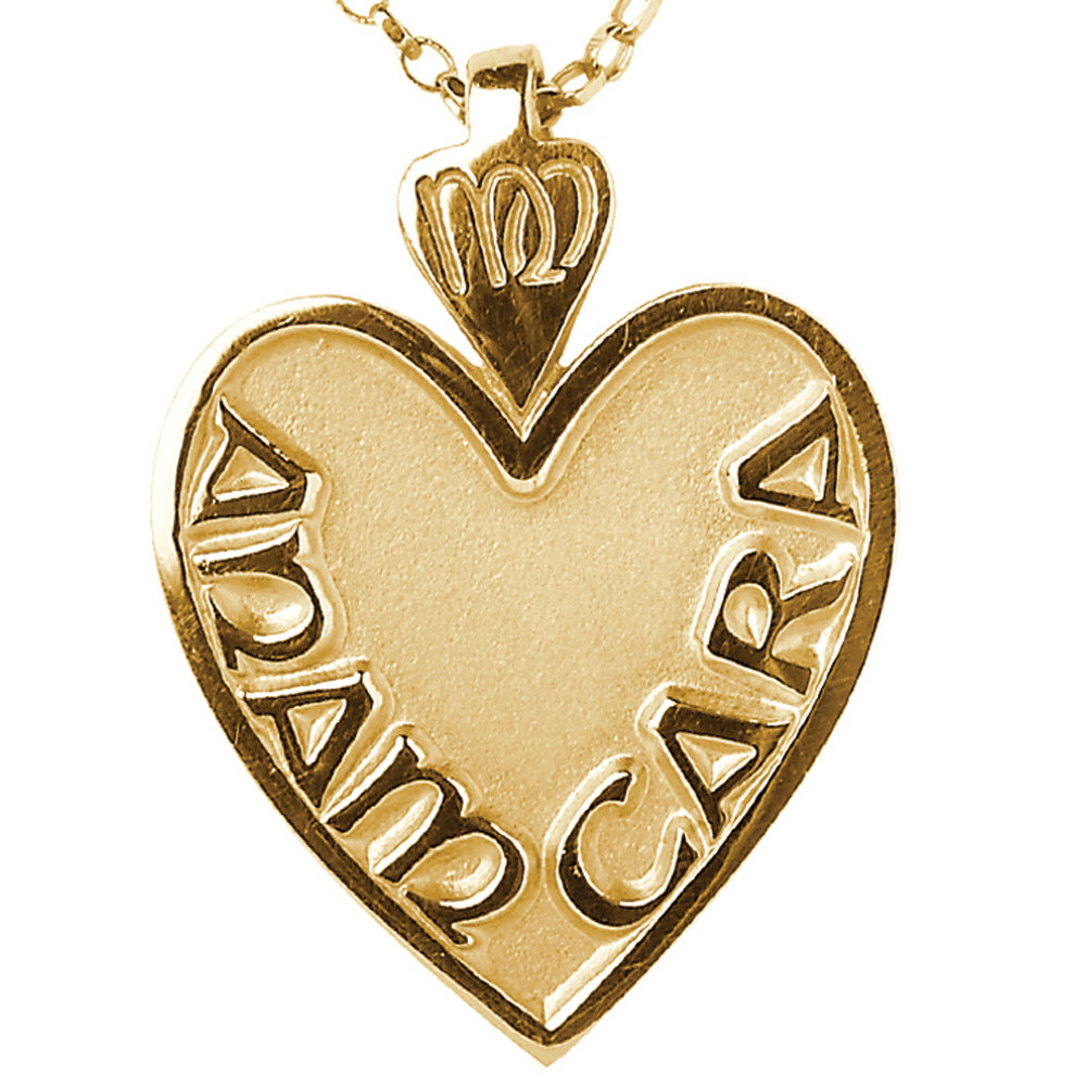 "Irish Necklace - Mo Anam Cara ""My Soul Mate"" Pendant with Chain - Medium"
