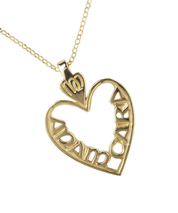 "Irish Necklace - Mo Anam Cara ""My Soul Mate"" Pierced Heart Pendant with Chain"