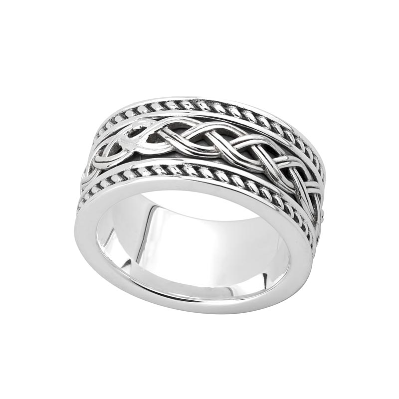 celtic ring mens sterling silver ancient celtic knot