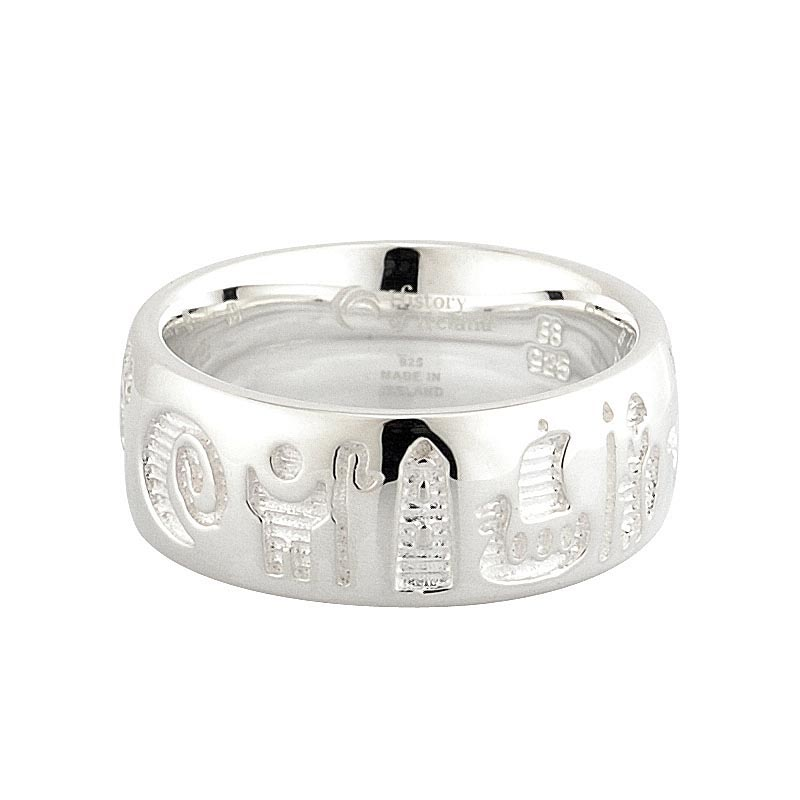 SALE - Irish Ring - Sterling Silver History of Ireland