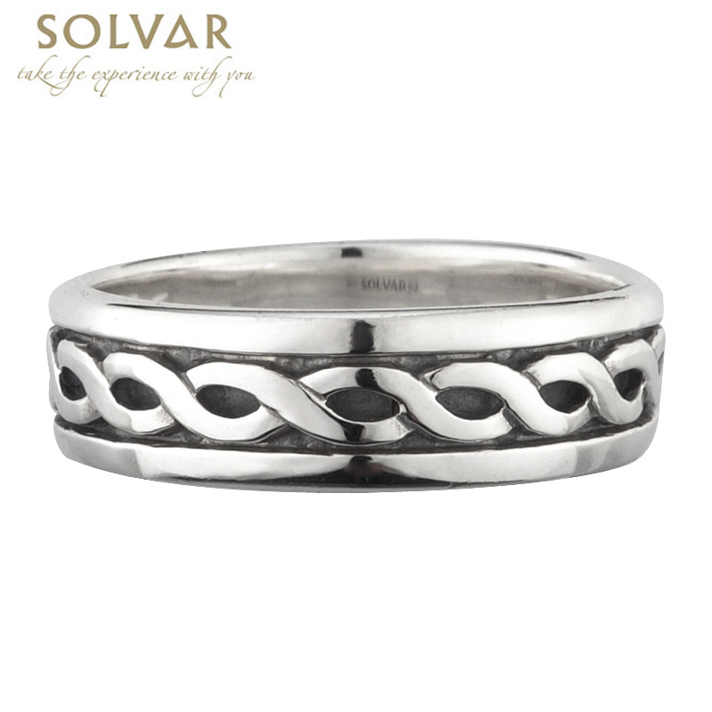 Celtic Ring - Ladies Sterling Silver Wide Celtic Band