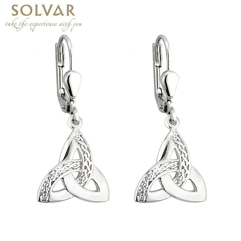 Celtic Earrings - Sterling Silver Celtic Weave Trinity Knot Earrings