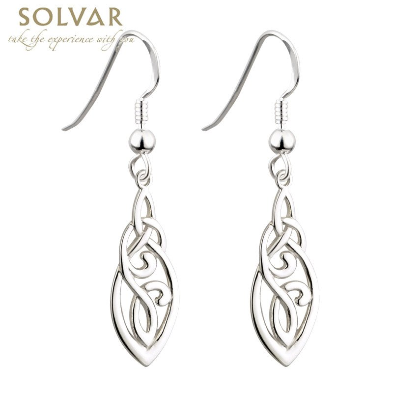 celtic knotwork earrings celtic earrings sterling silver celtic knot 9508