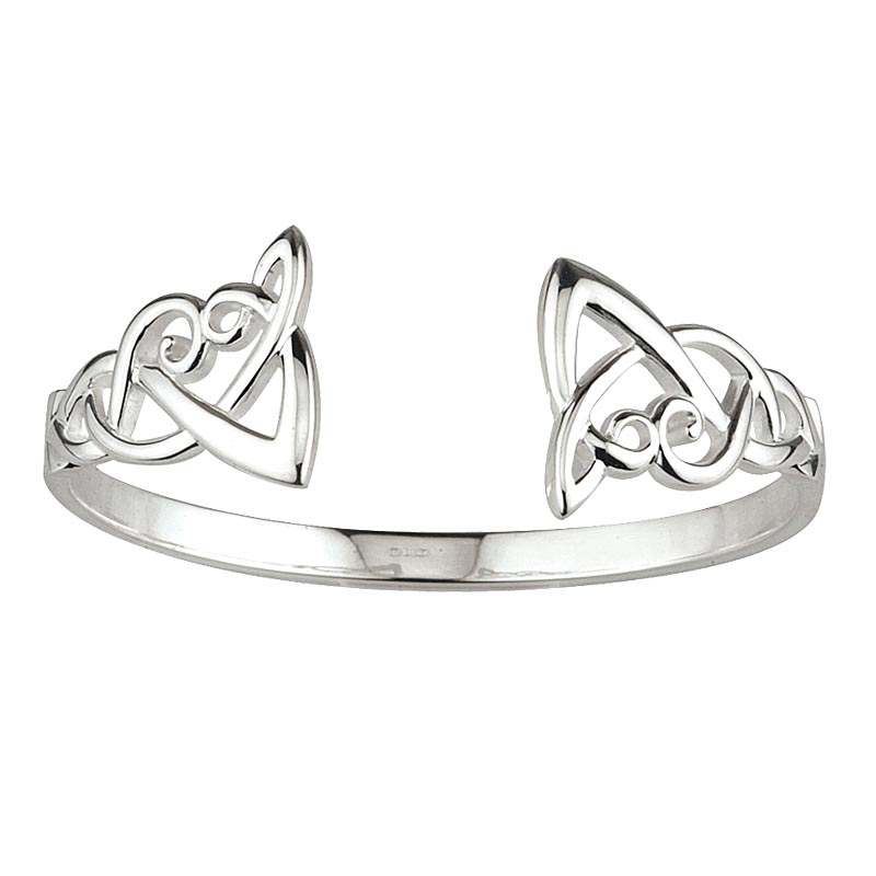 Celtic Bangle - Sterling Silver Celtic Knot Bangle