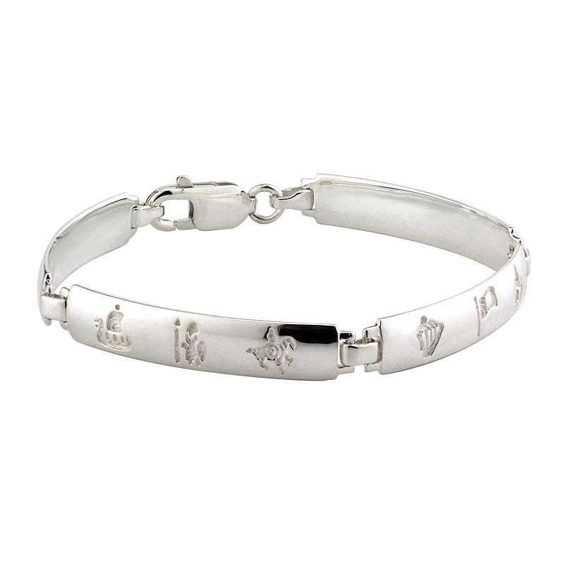 Irish Bracelet - History of Ireland Sterling Silver 4 Link Bracelet