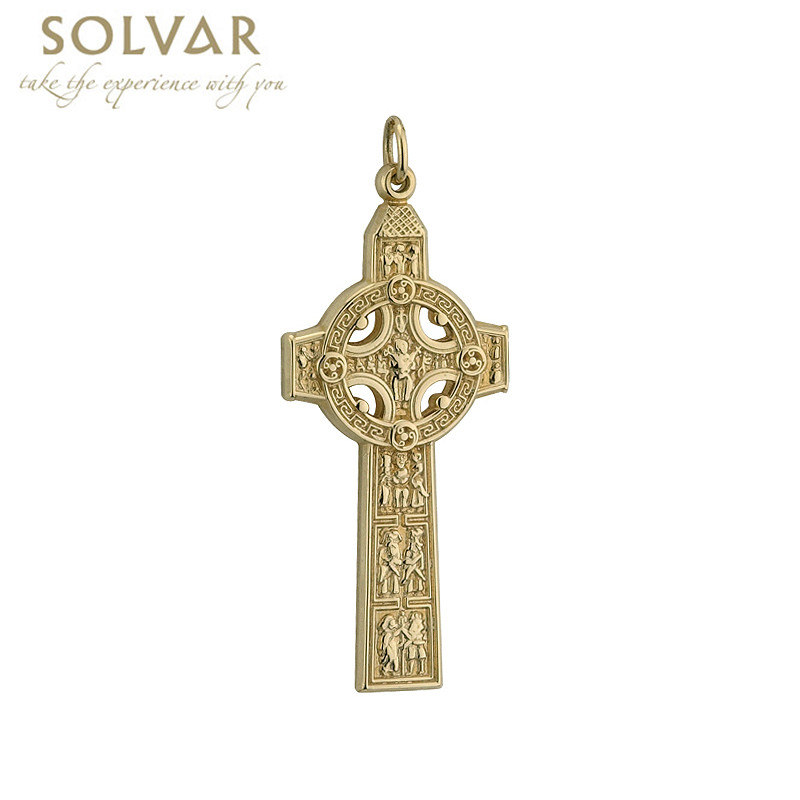 Celtic Pendant - 14k Gold Cross of Scriptures Pendant without Chain