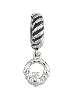 Sterling Silver Claddagh Bracelet Bead