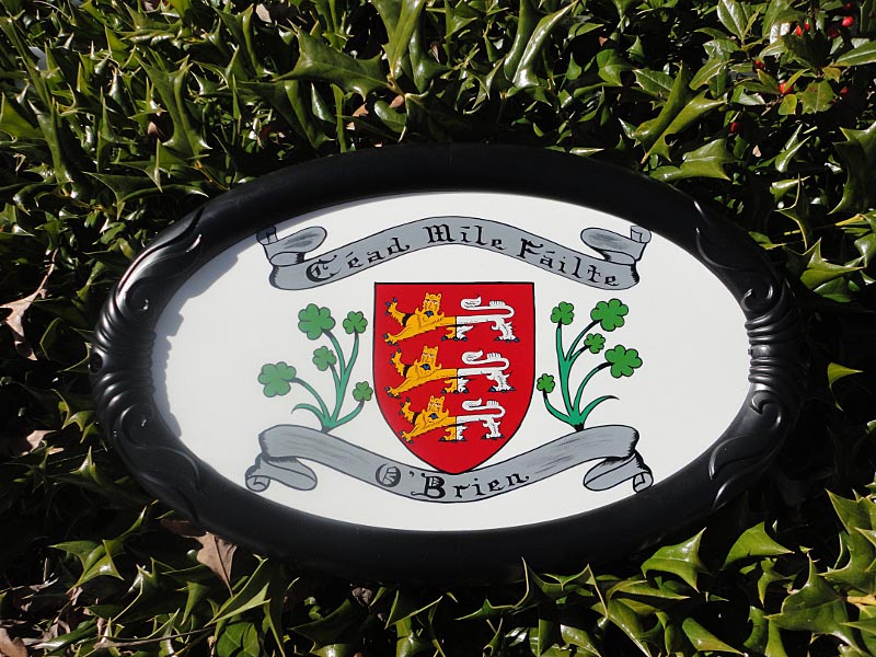 Personalized Irish Coat of Arms Outdoor House Plaque
