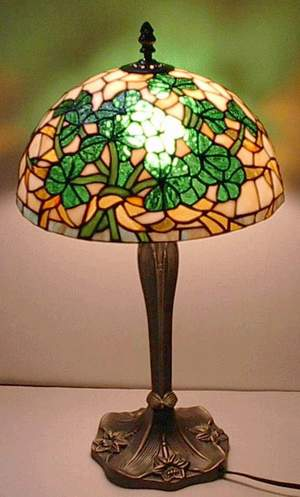 Shamrock Stained Glass Lamp