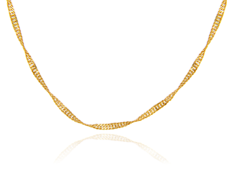 "Irish Necklace - Yellow Gold 18"" Chain"