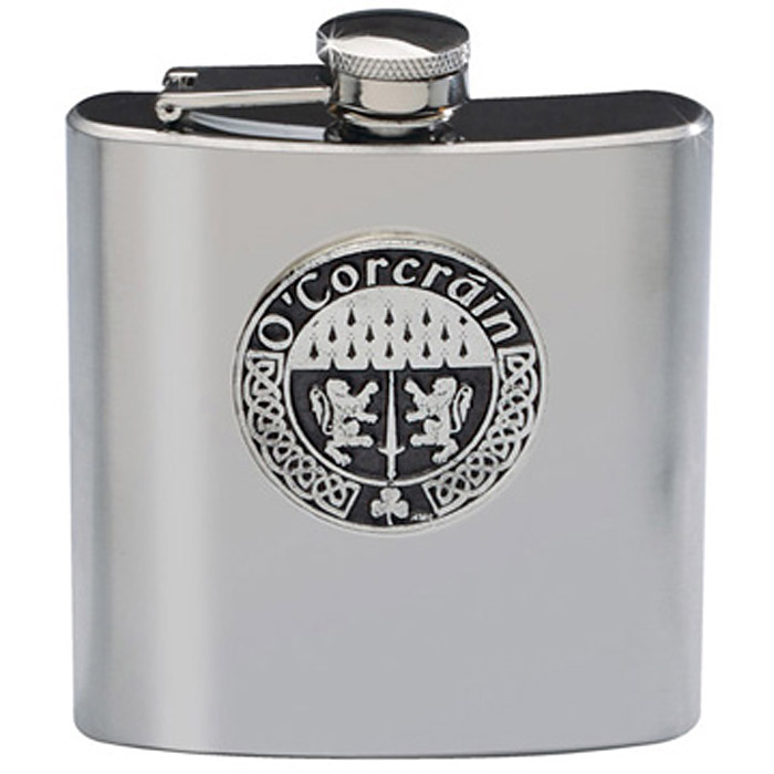 Personalized Irish Coat of Arms Flask