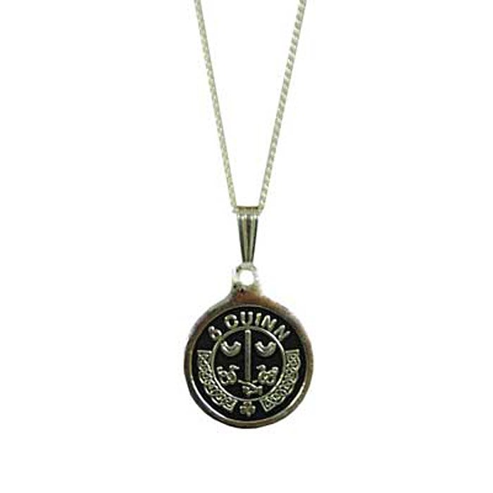 Irish Necklace - Personalized Irish Coat of Arms Silver Pendant