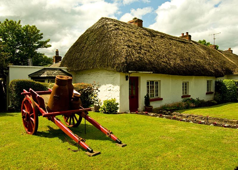 Adare cottage, Co Limerick Photographic Print