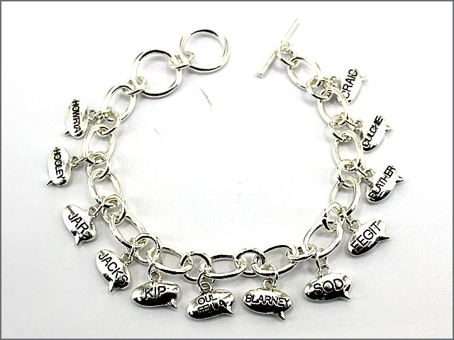 """Clean Irish Slang"" Charm Bracelet"