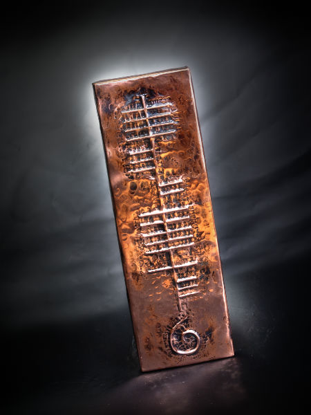 Copper Personalized Ogham Name Wall Plaque At Irishshop