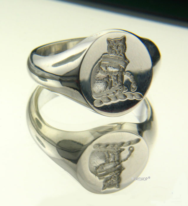 Irish Rings - Sterling Silver Family Crest Ring and Wax Seal