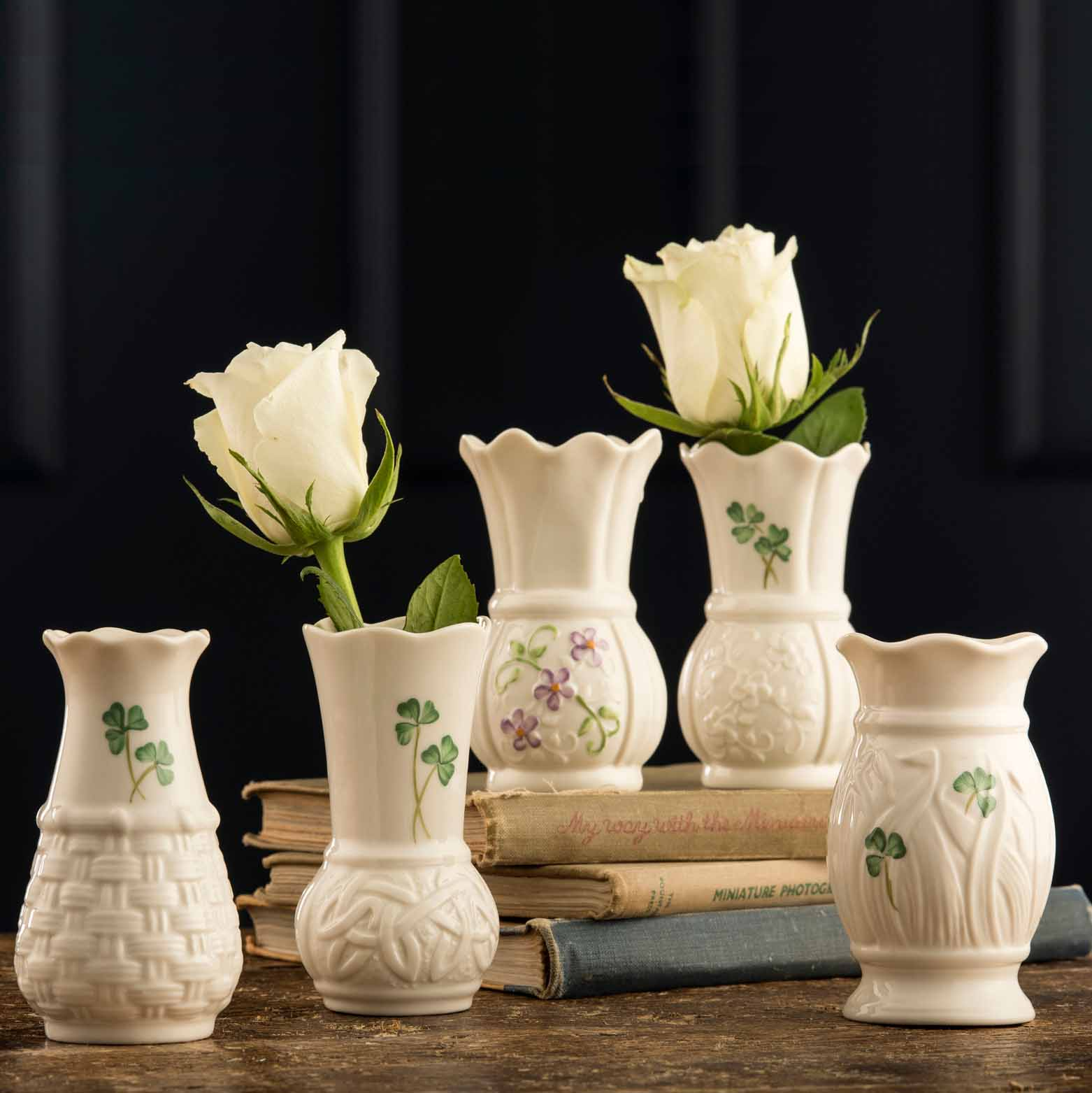 Belleek Pottery | Shamrock 4 Inch Vase