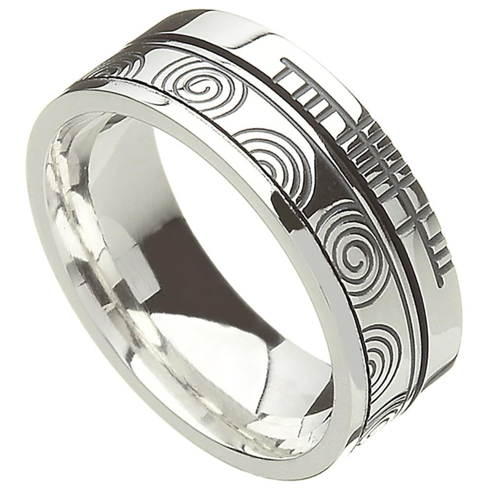 Irish Rings Comfort Fit Faith Newgrange Wedding Band