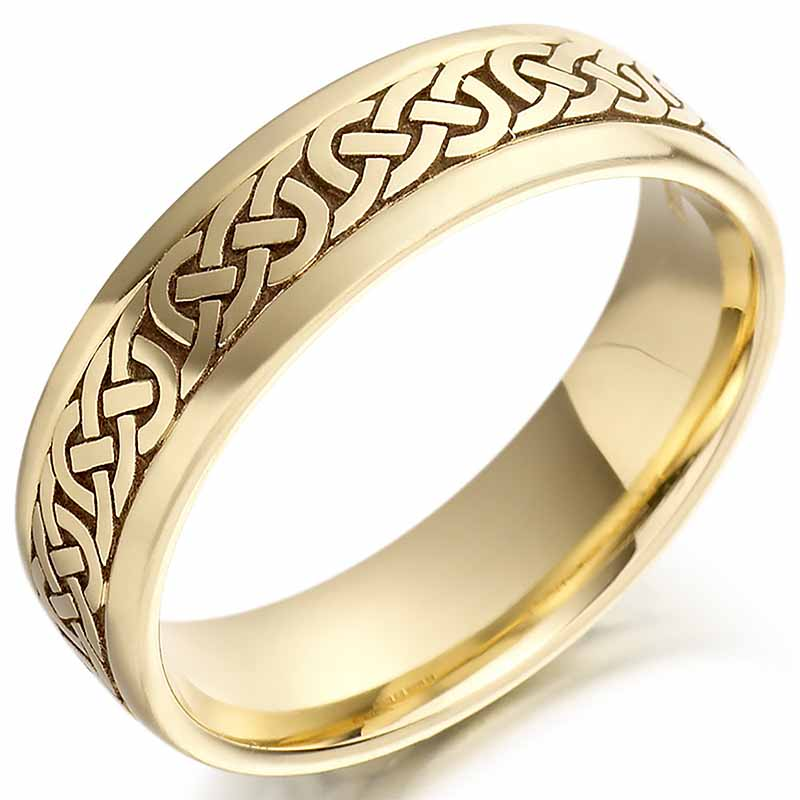 irish wedding ring mens gold celtic knots wedding band at celco2005g. Black Bedroom Furniture Sets. Home Design Ideas