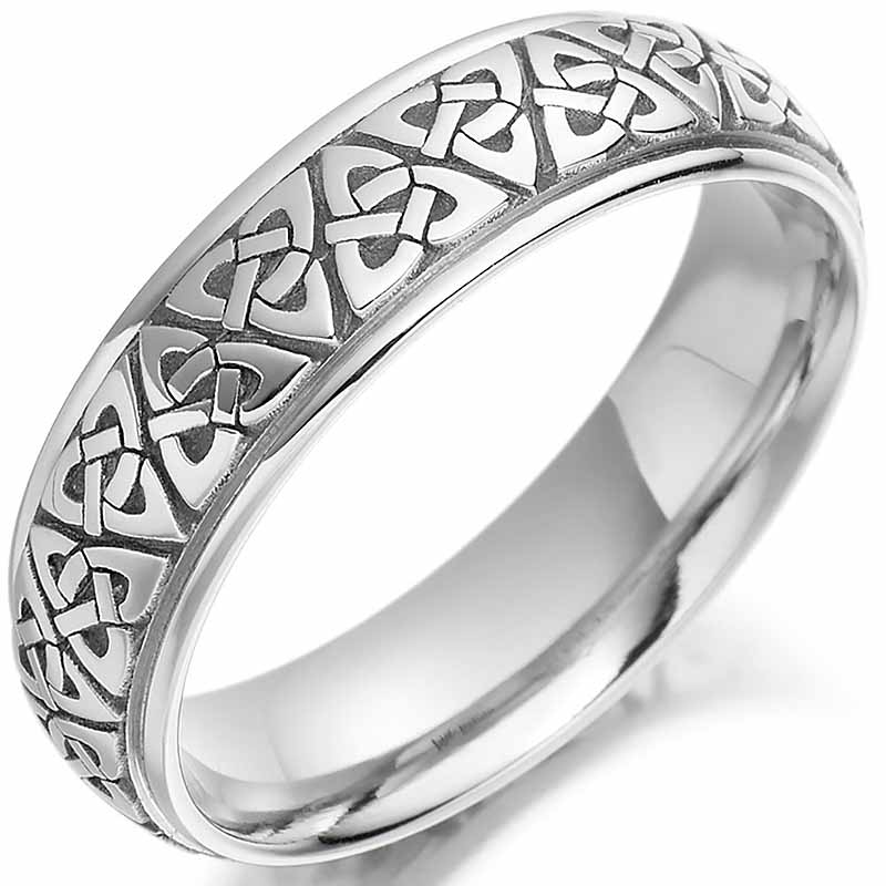 irish wedding ring mens gold trinity knot celtic wedding band at celco2010g. Black Bedroom Furniture Sets. Home Design Ideas