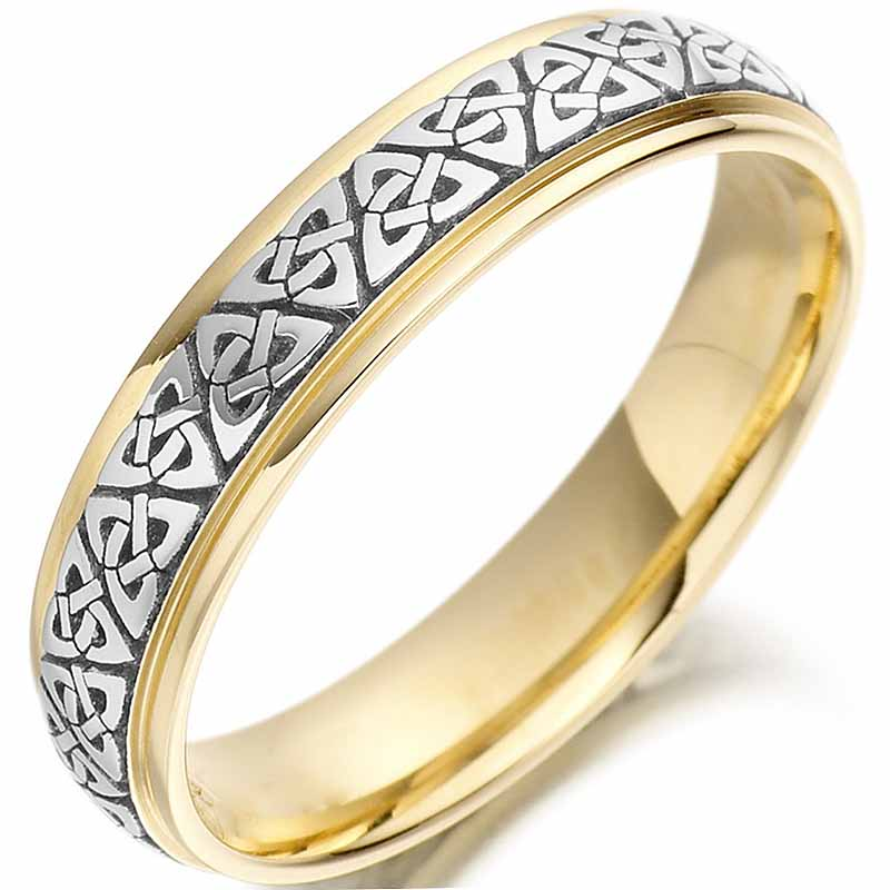 Irish Wedding Rings.Trinity Knot Wedding Ring Ladies Two Tone Trinity Celtic Knot