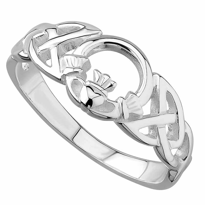 Claddagh Ring - Ladies Sterling Silver Celtic Claddagh