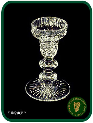 Irish Crystal - Heritage Irish Crystal Double Button Candlestick (Pair)