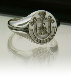 Irish Rings - Sterling Silver Personalized Full Coat of Arms Ring