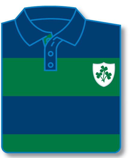 Shamrock Shield Striped Rugby Shirt