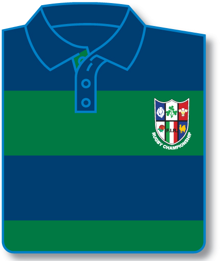 Rugby Championship Striped Rugby Shirt