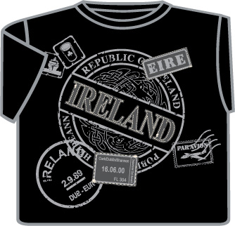 Ireland Passport Stamp T-Shirt