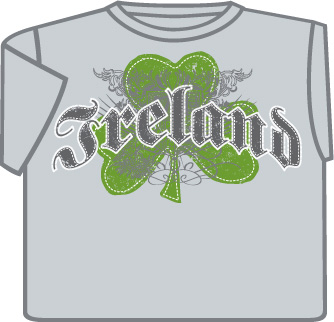 Irish T-Shirt - Ireland Shamrock Crest
