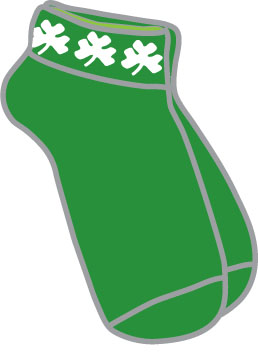 Ladies Shamrock Ankle Socks - Green